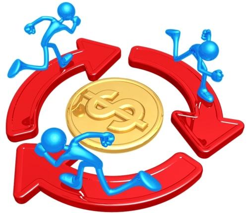 картинка бег по кругу за деньгами